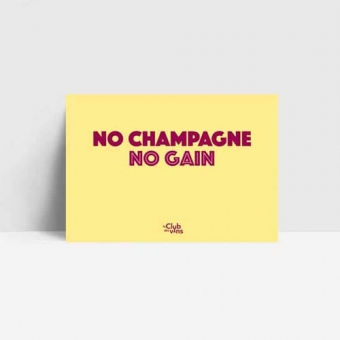 No champagne no gain